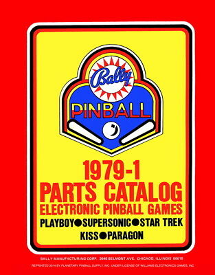 1979-1 Bally Electronic Pinball Parts Catalog Service & Repair Game Manual   PPs