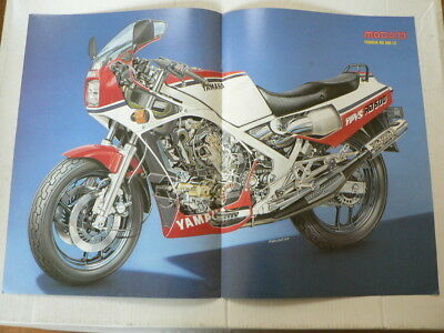 A450-Yamaha Rd500 Lc Ypvs Motorcycle Poster Motorrad 1985 ? Rd500Lc