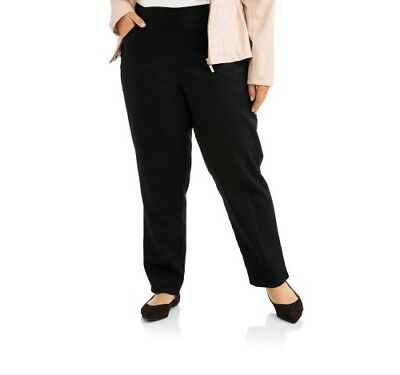 Just My Size Women's Classic Fit Black Soot Stretch Pant Size 2X (18W/20W)
