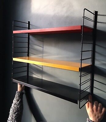 Vintage Metal Mid Century String / Ladderax style Shelving Unit