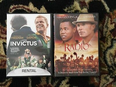 Lot Of 2 DVDs Movies Invitictus And Radio