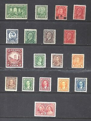 Canada Selection Of Older Mint Stamps Scott 142/237 Mogh (Bs10716)