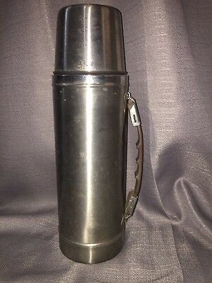Vintage Hot Cold Champ Stainless Steel Thermos Rare And Old Estate Find