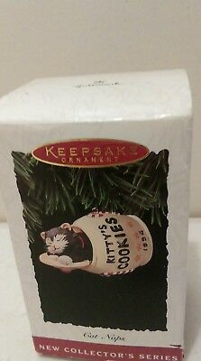 Hallmark Keepsake Ornament 1994 Cat Naps First in series Kitty's Cookies