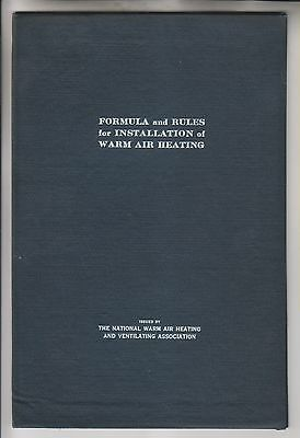 1915 Booklet - Formula And Rules For Installation Of Warm Air Heating