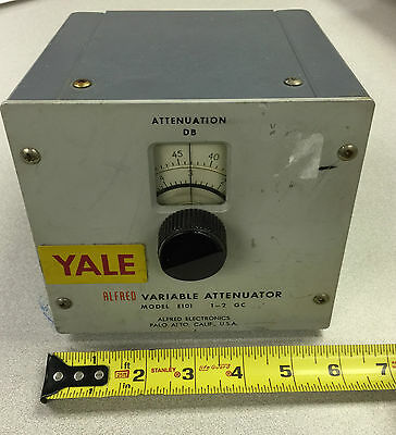 Untested - Alfred Variable Attenuator # E101 - As-Is