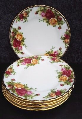 Royal Albert OLD COUNTRY ROSES TEA PLATES X 6  1st QUALITY