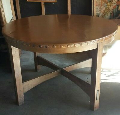 Antique 1900s Gustav Stickley Arts & Crafts Mission Library Gaming Table