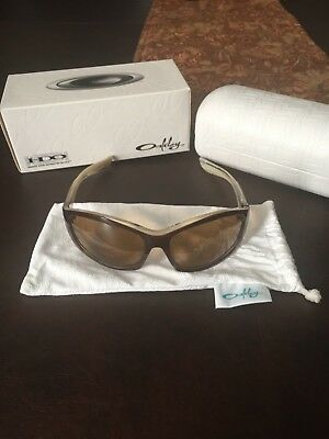 "OAKLEY DISOBEY ""Cappuccino"" Color  Sunglasses NIB WITH HARD CASE & SOFT BAG"