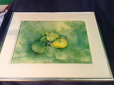 Dichromatic Impressionist Tomatoes On Vine Signed Art Print~2/500 Framed/Matted