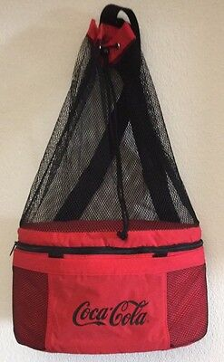 Koozie Coca Cola Insulated Cooler Backpack Tote Snack Carrier Red Soft Sides