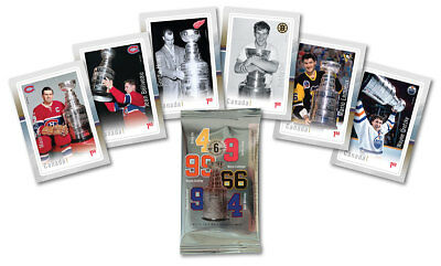 2017 Canada Nhl Hockey Legends Stamps Package Of 6 - Gretzky, Howe, Orr, Lemieux