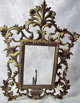 ANTIQUE National Brass & Iron Works ORNATE VICTORIAN PHOTO FRAME EASEL BACK