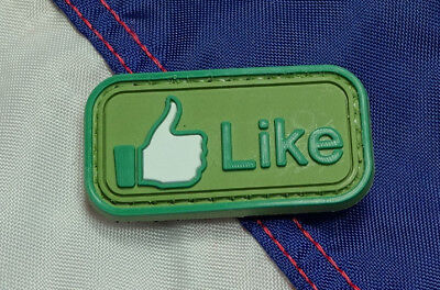 I LOVE GUNS AND BACON PVC MORALE PATCH HOOK TACTICAL ARMY STARBUCKS OLIVE