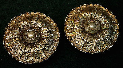 """Extra Large Pair Sheryle Wagner or Guerin HOLLYWOOD Door Knobs 7"""" Reclaimed"""