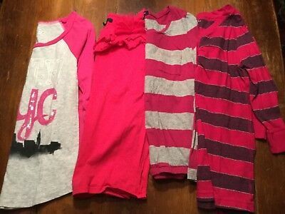 Lot of Four Girls Pink Knit Pullover Tops Sz 10 Gap Old Navy American Eagle