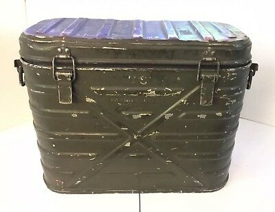 US Army Military Insulated Hot Cold Food Container Cooler Metal Box Can 1979