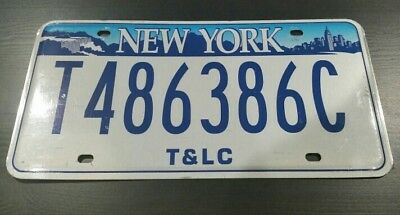 New York T&LC Taxi and Limousine Company License Plate