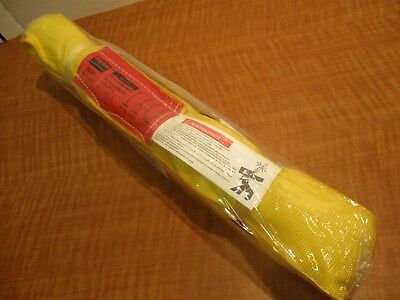 """Endless Round Sling, L: 6 ft. 8400 LB, Polyester, Dia. 1-1/8"""" Yellow, NEW"""