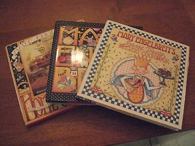 mary engelbreit book hardcover lot 3 dessert cookbook art artist home companion