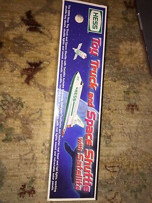 NEW 1999 HESS Toy Truck and Space Shuttle with Satellite