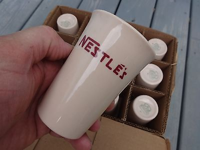 NOS Box of 12 NESTLE'S MUGS',  ORIGINAL shipping box, STERLING VITRIFIED CHINA