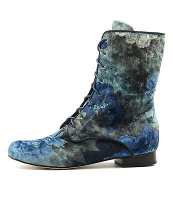 New Gamins Grumpa Blue Flower Womens Shoes Casual Boots Ankle