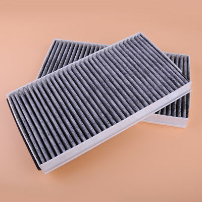 2 x Carbon Cabin Fresh Air Filter Replace Fit BMW 5 Series E60 E63 64 535i M5 M6