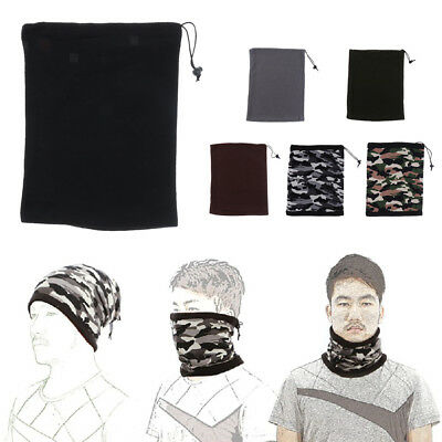 Winter Sports Thermal Polar Fleece Scarf Snood Neck Warmer Face Mask Beanie Hat
