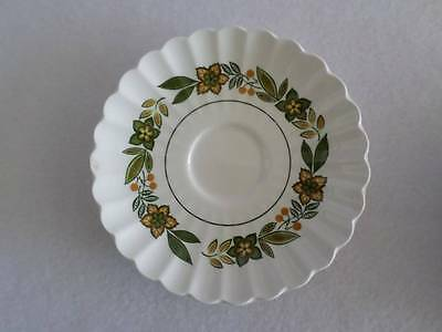 J & G Meakin Colonial Classic White English Ironstone Saucer Chipped