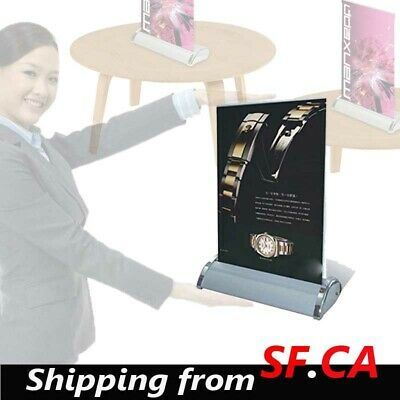 A3,11-1/2 x 17 inches,Mini Table Top Retractable Trade show Display Banner Stand