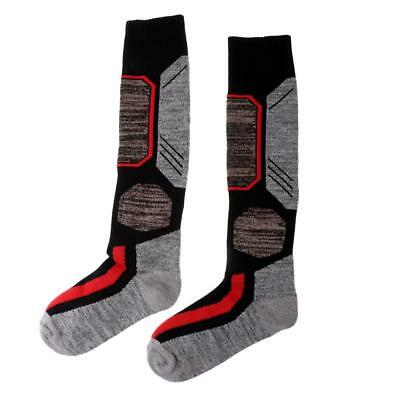 Unisex Thermal Socks Winter Warm Outdoor Sports Long Ski Socks Black L