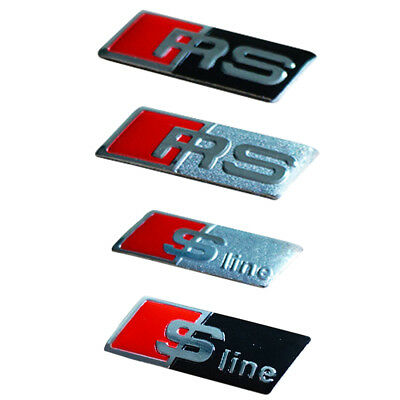RS Sline Steering Wheel 3D Sticker Badge Emblem For Audi A1 A3 A4 A5 A6 A7 Q3 Q5