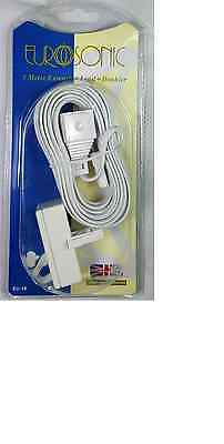 5m Telephone Extension Lead Doubler EU-14 Phone Cable All Lines Broadband Cord