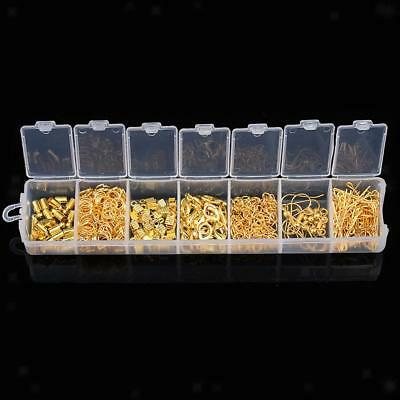 A Box Ear Wire Lobster Clasp Earring Findings Jewelry Making Kit Gold