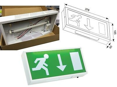 3 Hour Emergency Exit Light Box Sign 8W T5 Ansell AG8/3M 240v IP20 (Box Only)