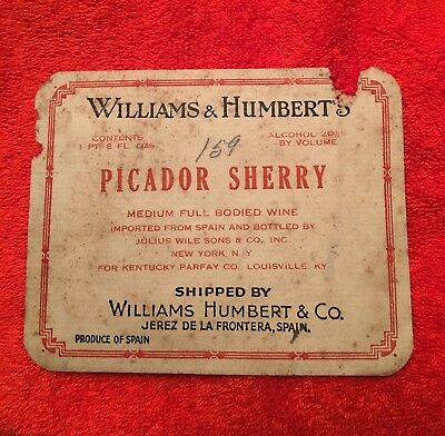 Picador Sherry Wine Label !!