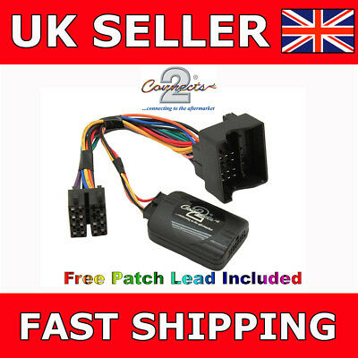 BMW 3 5 Series E46 E39 Steering Wheel Stalk Control Adaptor CTSBM004.2 + Patch