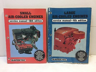 LOT OF 2 INTERTEC Small & Large Air-Cooled Engines Service Manual UNIVERSAL