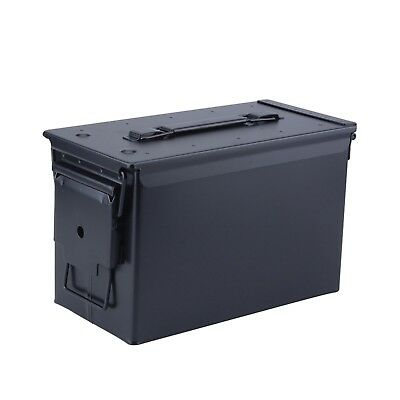 Magnum Metal Ammo Can – Military Grade .50 Cal. Ammunition Metal Black