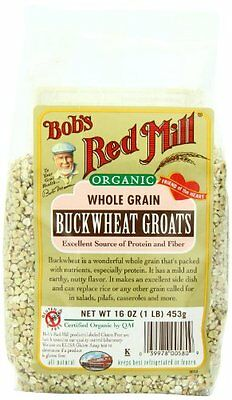 Fresh Tasty Pack Of 4 Bobs Red Mill Organic Whole Grain Buckwheat Groats Raw 16O