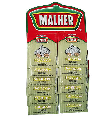 Malher Garlic Salt 0.21 oz - Sazonador Sal de Ajo (Pack of 1)
