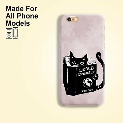 Cat Domination Phone Case for iPhone 8 8+ 7 Plus X XR XS max Galaxy S9 Note 9 8