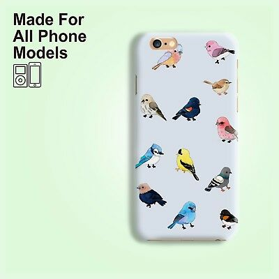Sky blue bird for iPhone 8 8+ X 7 6 6s Galaxy S7 S8 edge S6 Note 8 HTC
