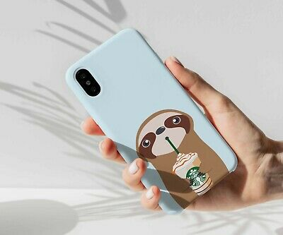 Sloth coffee phone case for iPhone 8 8+ 7 7+ Plus Galaxy S8 S8+ Note 8 Sony XA