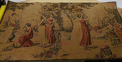 """Lovely Victorian French Tapestry  - 38"""" X 19"""" - Near Perfect & Quality Made!!"""