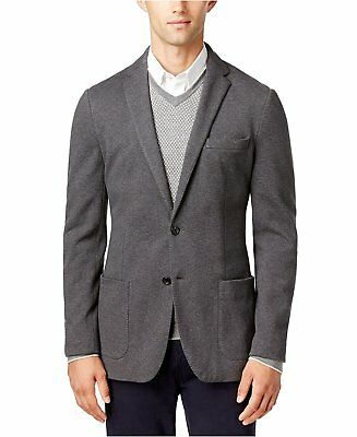 7437-2 MICHAEL KORS Mens Classic-Fit Double Knit Heather Grey 38R $295