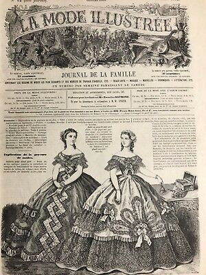 Civil war era MODE ILLUSTREE SEWING PATTERN March 24,1862 FICHU MARIE ANTOINETTE