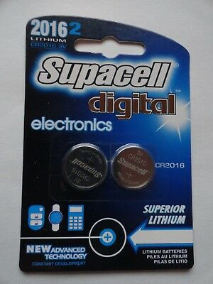 2 x Supacell CR2016 3V Lithium Coin Cell Battery 2016