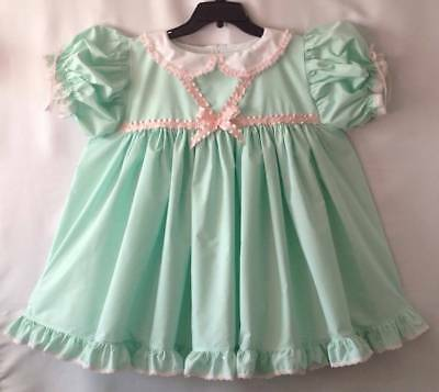 Adult Baby Sissy~MINT GREEN AND PINK 2 Piece Dress Set OOAK~Lovie_n_Me